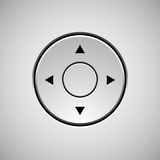 White Abstract Joystick Button Template Royalty Free Stock Image