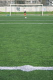White abstract lines on a green field. White abstract lines on a green football field stock image