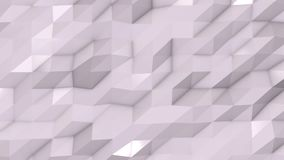 White abstract low poly triangle background. 4k stock footage