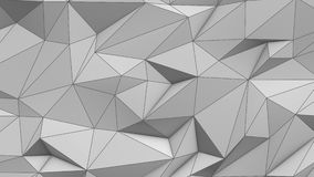 White abstract low poly triangle background. 4k stock video
