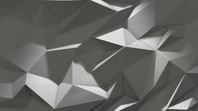 White abstract low poly triangle background with shadow. 4k stock video