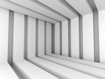 White Abstract Modern Architecture Interior Background. 3d Render Illustration Royalty Free Stock Photo