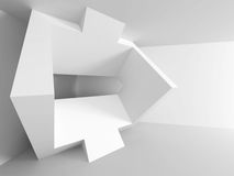 White Abstract Modern Architecture Interior Background. 3d Render Illustration Royalty Free Stock Photography