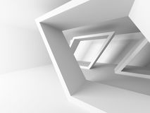 White Abstract Modern Architecture Interior Background. 3d Render Illustration Stock Image