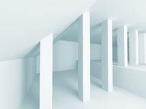 White Abstract Modern Architecture Interior Background. 3d Render Illustration Royalty Free Stock Image
