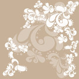 White pattern. White abstract pattern on a beige background. Vector illustration Royalty Free Stock Photos