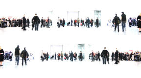 White abstract. people in hall. White abstract. people in the hall Royalty Free Stock Photos