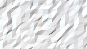 White abstract polygonal background animatio stock footage