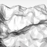 White Abstract Polygonal Background Stock Photo