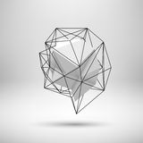 White Abstract Polygonal Background Royalty Free Stock Photography