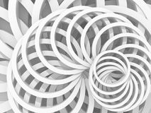 White Abstract Round Shapes Pattern Architecture Background Royalty Free Stock Photography