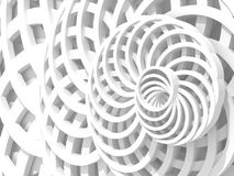 White Abstract Round Shapes Pattern Architecture Background Royalty Free Stock Image