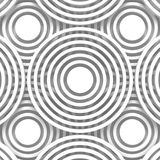 White Abstract Round Shapes Pattern Architecture Background Royalty Free Stock Photo