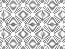 White Abstract Round Shapes Pattern Architecture Background Royalty Free Stock Photos
