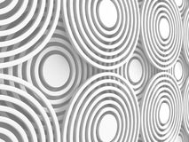 White Abstract Round Shapes Pattern Architecture Background Royalty Free Stock Images