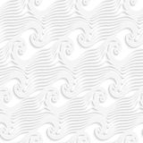 White abstract sea wave lines seamless Stock Photo