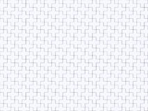 White abstract seamless background made of plus jigsaw puzzle. Pieces. 3D render illustration Stock Photography