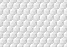 White abstract seamless pattern with geometric hexagonal cubes. Vector background illustration Royalty Free Stock Images