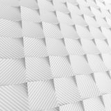 White abstract squares backdrop. 3d rendering geometric polygons. As tile wall. Interior room Stock Photos
