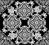 White abstract symmetrical square pattern Royalty Free Stock Images
