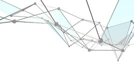 White abstract technology background. With plexus elements. 3D rendering Stock Images