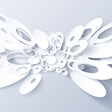 White 3d paper vector abstract background Royalty Free Stock Image