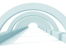 White Abstract Tunnel Architecture Background Stock Photo