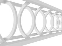 White Abstract Tunnel Architecture Background. 3d Render Illustration royalty free illustration