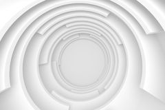 White Abstract Tunnel. Circular Modern Design. Creative Engineering Concept Royalty Free Illustration