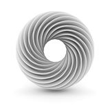 White Abstract Twisted Design Object Royalty Free Stock Image