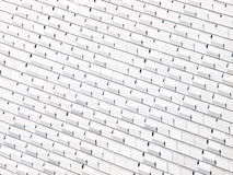 White abstract wall. White abstract modern wall with shiny cubes Stock Images