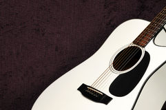 White acoustic guitar Royalty Free Stock Images