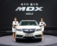 White Acura MDX Royalty Free Stock Photo