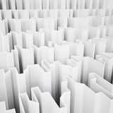 White acute angled abstraction Royalty Free Stock Photo