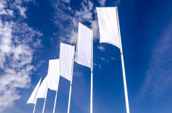 White ad banners Stock Images