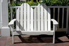 White adirondack bench Royalty Free Stock Photo