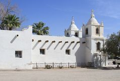 USA, Arizona/Guadalupe: Adobe Church Stock Image