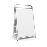 White advertising stand Stock Photos