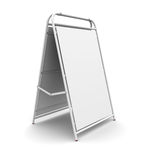 White advertising stand Royalty Free Stock Photos