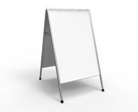 White advertising stand Stock Photography