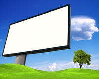 White advertising wall Stock Photo