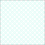White and aero blue colored hollow polka dots patern Royalty Free Stock Photo