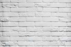 White aged brick wall background Stock Images