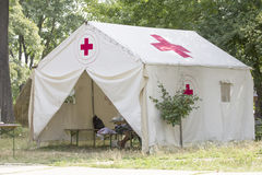 White aid tent Royalty Free Stock Photography