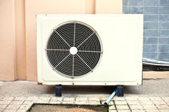 White air condition box Stock Images