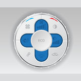 White air condition gauge with blue lcd Royalty Free Stock Images