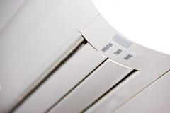 White air-conditioner. Unit inside block set Stock Photo
