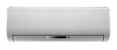 White air conditioner isolated Royalty Free Stock Photo