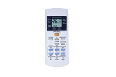 White Air Conditioner Remote. Control Royalty Free Stock Photo