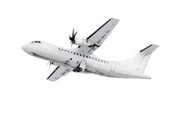 White airplane Stock Photography